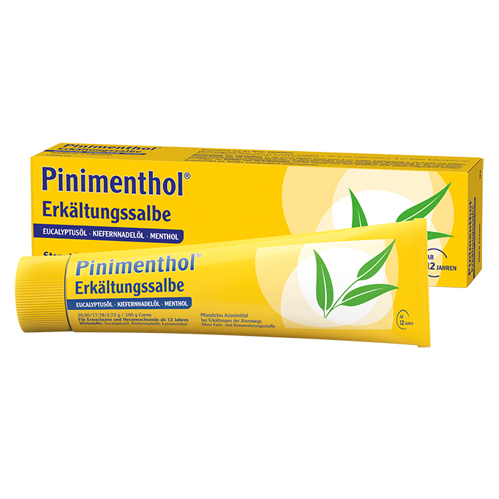 Pinimenthol® Erkältungssalbe Eukalyptus Kiefernnadel Menthol 100 g