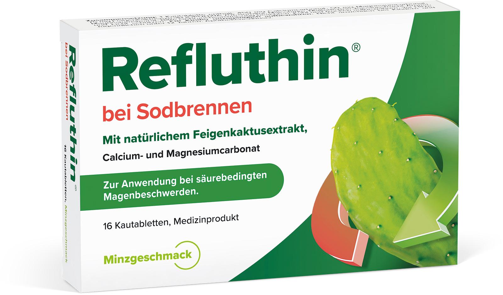 Refluthin®  Minze Kautabletten 16Stück