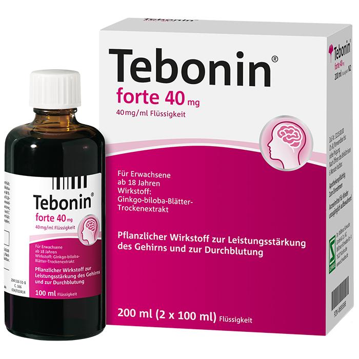 Tebonin® forte 40 mg Flüssigkeit 200 ml (2x100 ml)